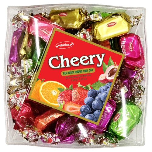 Cheery Soft Candy in Square Plastic Box 150gr