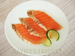 Grilled salmon slice
