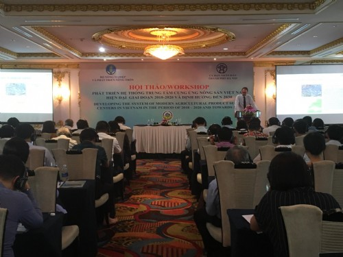 Developing the system of modern agricultural product supply centers in Vietnam: workshop